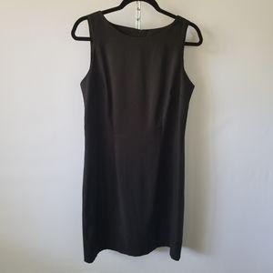 4/$20 AB Studio Sleeveless Black Dress LBD 12